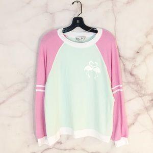 NWOT Wildfox Flamingo Sweatshirt